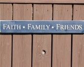 Faith, Family, Friends Wall Hanging