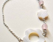 Bracelet mother-of-pearl and rosequartz/Braccialetto madreperla e quarzo rosa