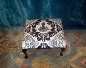 Black and white glamour ottoman