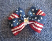 red,white and blue hair bow 4th of JULY