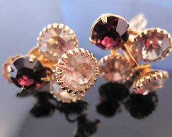 Vintage amethyst glass earring