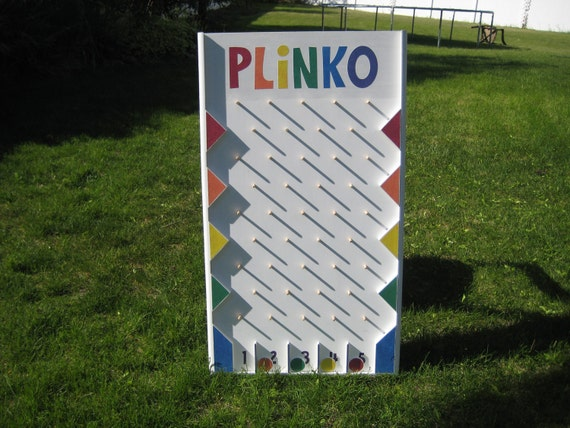 Plinko game building plans by stuffbyjeff on etsy for House planning games