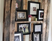 Photo shelf. Made of reclaimed pallet wood. Free Shipping