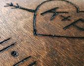 Wedding Guestbook or album - custom initials wood burned - 20 sheets of cardstock