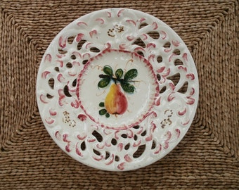 Italian Fruit plate with cut work