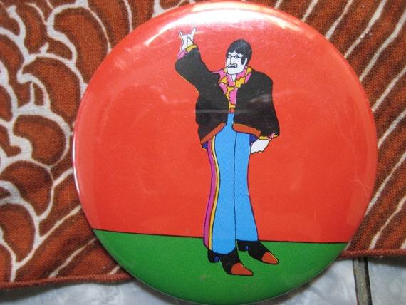 Authentic Vintage John Lennon Beatles Yellow Submarine Pin