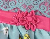 Butterflies and Flowers dream... Girl Dress... Size 6