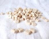 9x7 mm natural wooden rectangular beads 25 pcs eco friendly