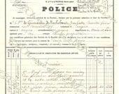 Digital French Receipt  Document Ephemera from 1894 POLICE