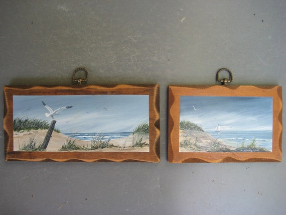 Seagull and Beach Wall Plaques