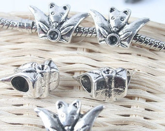 16pcs antiqued silver two sides mouse spacer beads G1310