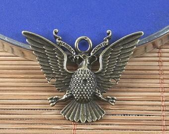 8pcs antiqued bronze eagle design pendant/link G1538