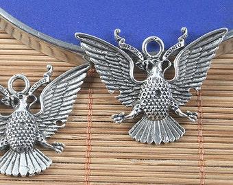 8pcs antiqued silver eagle design pendant/link G1539