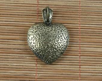 4pcs antiqued bronze heart shaped cabochon settings G1689