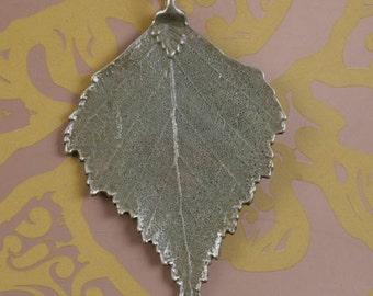 2pcs 71x45mm antiqued bronze big leaf design pendant G1727