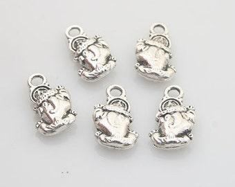 40pcs Tibetan Silver animal charm pendants X0048
