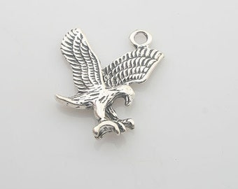 10pcs Tibetan Silver flying eagle charm pendants X0114