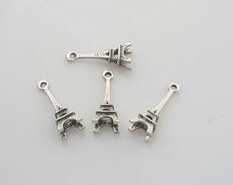 40pcs Tibetan Silve Eiffel Tower charm pendants X0154