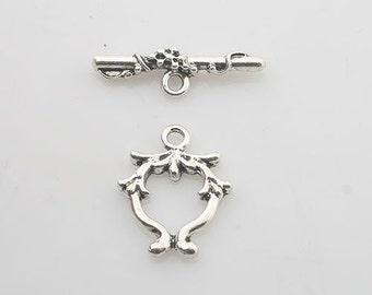 15sets Tibetan Silver jewelry toggle clasps X0207