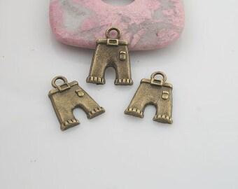 36pcs antiqued bronze color trousers style pendant charm G1916