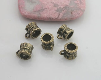60pcs antiqued bronze color bail charm G1917