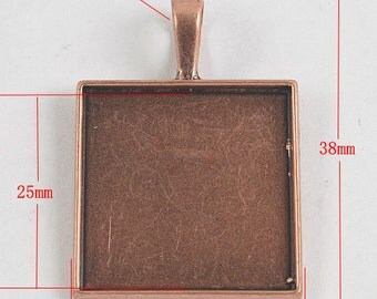 6pcs copper tone retangle photo frame G818