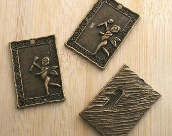 6pcs antiqued bronze Cupid arrow pendant charm G511