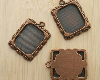 10pcs 20x17mm copper-tone picture frame charm G465