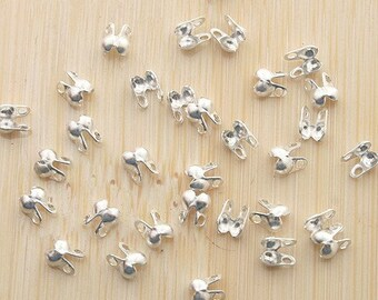 100pcs silver tone finish connectors for 1.5 mm ball chains G11