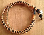 Leather Wrap Bracelet - REDUCED PRICE