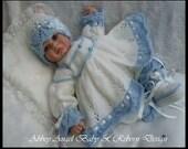 Baby/Reborn Matinee Set Knitting Pattern 18-20inch DK (Viola)