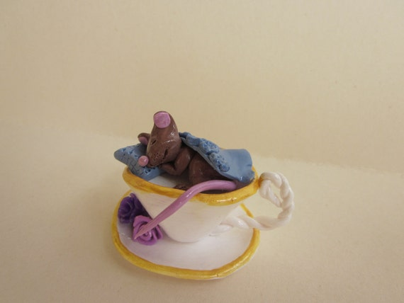 Miniature Mouse in Teacup