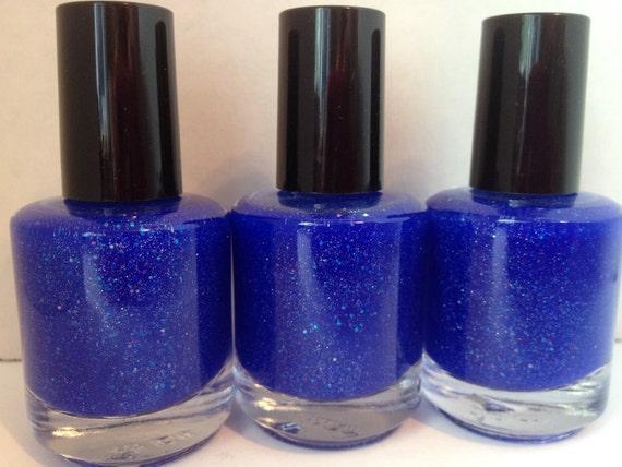 Galaxy Far, Far Away - Blue Jelly Nail Polish w/Silver and Holographic Glitter 15mL