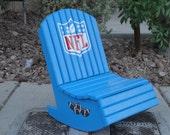 NFL Logo, Football,  Angel Rocking Chair