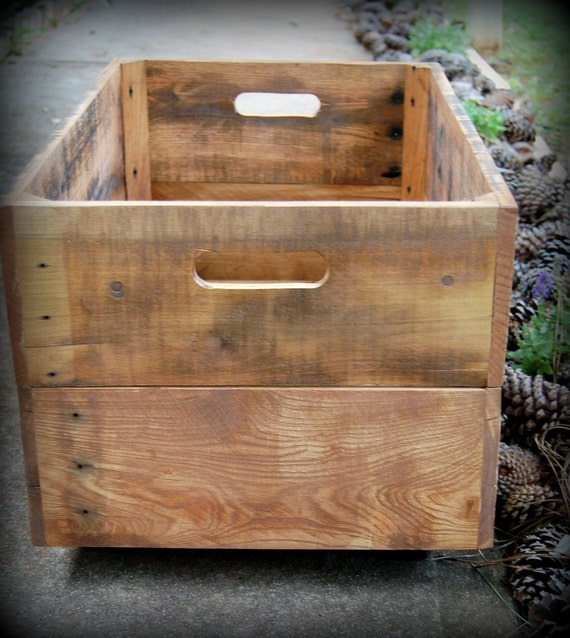 Large Rolling Crate from Recycled Pallet