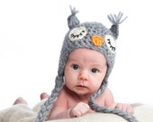 Baby Hat Owl  -  FREE SHIPPING   Photo Photography Prop Gift idea