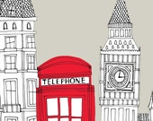 LIMITED EDITION - Mounted Print - Red Telephone Box, London.