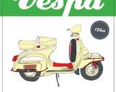 Italian Vespa Poster - Retro Style