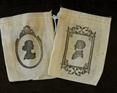 reserved for alanasefly - Silhouette hand printed wedding favor bags -35 bags