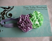 Baby Headband..Purple and Green...Newborn Headband..Toddler Headband