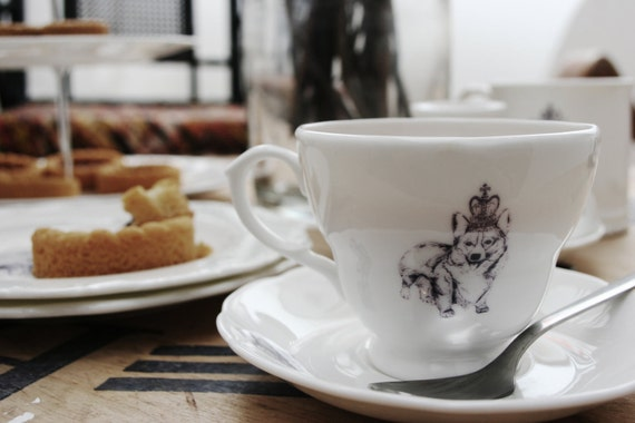 Diamond Jubilee Royal Corgi Cup and Saucer