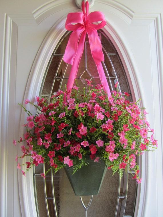 Door Wreath, Summer Wreath, Pink Wreath,  Wreath