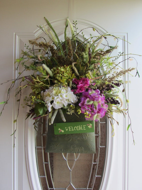 Door Wreath, Summer Wreath, Hydrangea  Wreath,  Wreath