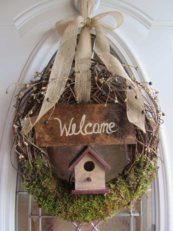 Summer Wreath Door Wreath Grapevine Wreath By
