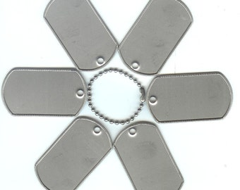 100 Blank Dog Tags, Stainless Steel Dog Tags, Metal Tags, Bulk Dog Tags