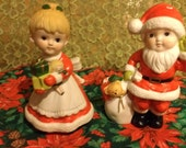 Vintage Christmas Mr.and Mrs. Claus by HOMCO number 5401