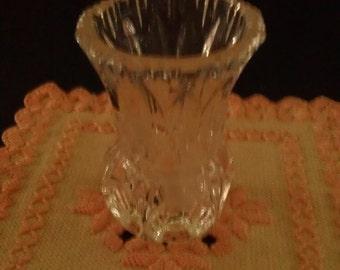 """Vintage """"thumb print"""" style toothpick holder/bud vase"""