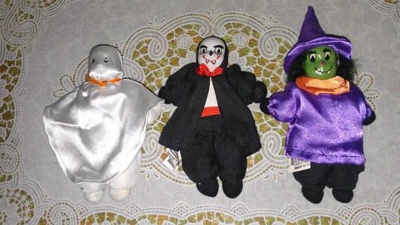 Vintage 3 piece Halloween dolls