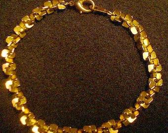 Amazing Bright Gold Signed Korea Bracelet
