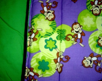 Happy Monkey Print Blanket